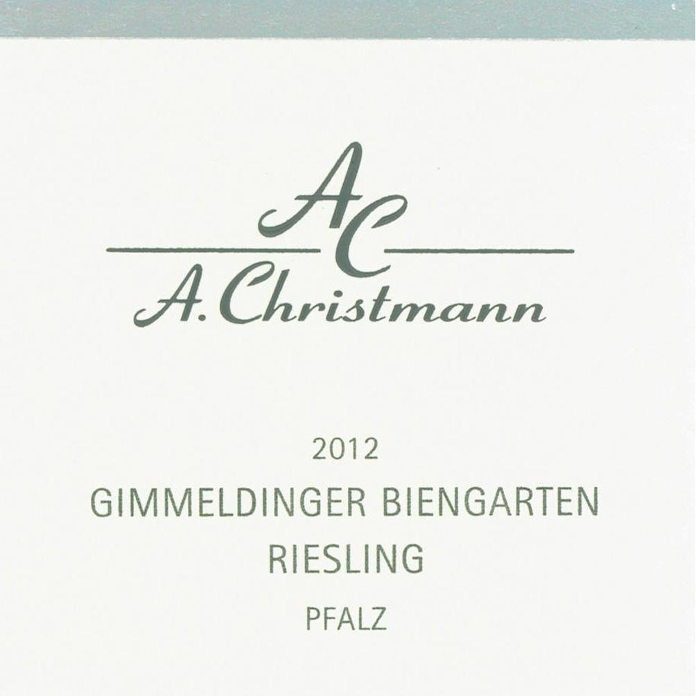 Christmann / 2012 Gimmeldinger Biengarten Riesling trocken-79