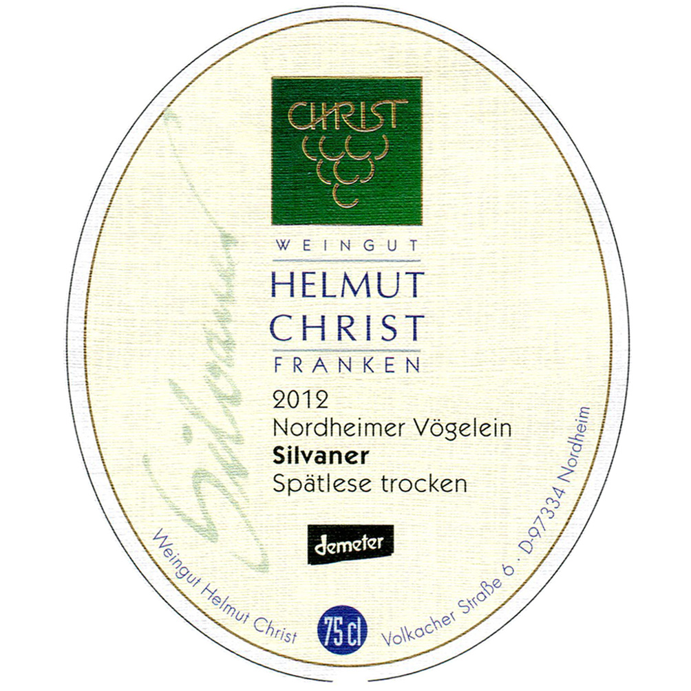Helmut Christ / 2012 Nordheimer Vögelein Silvaner Spätlese trocken-226