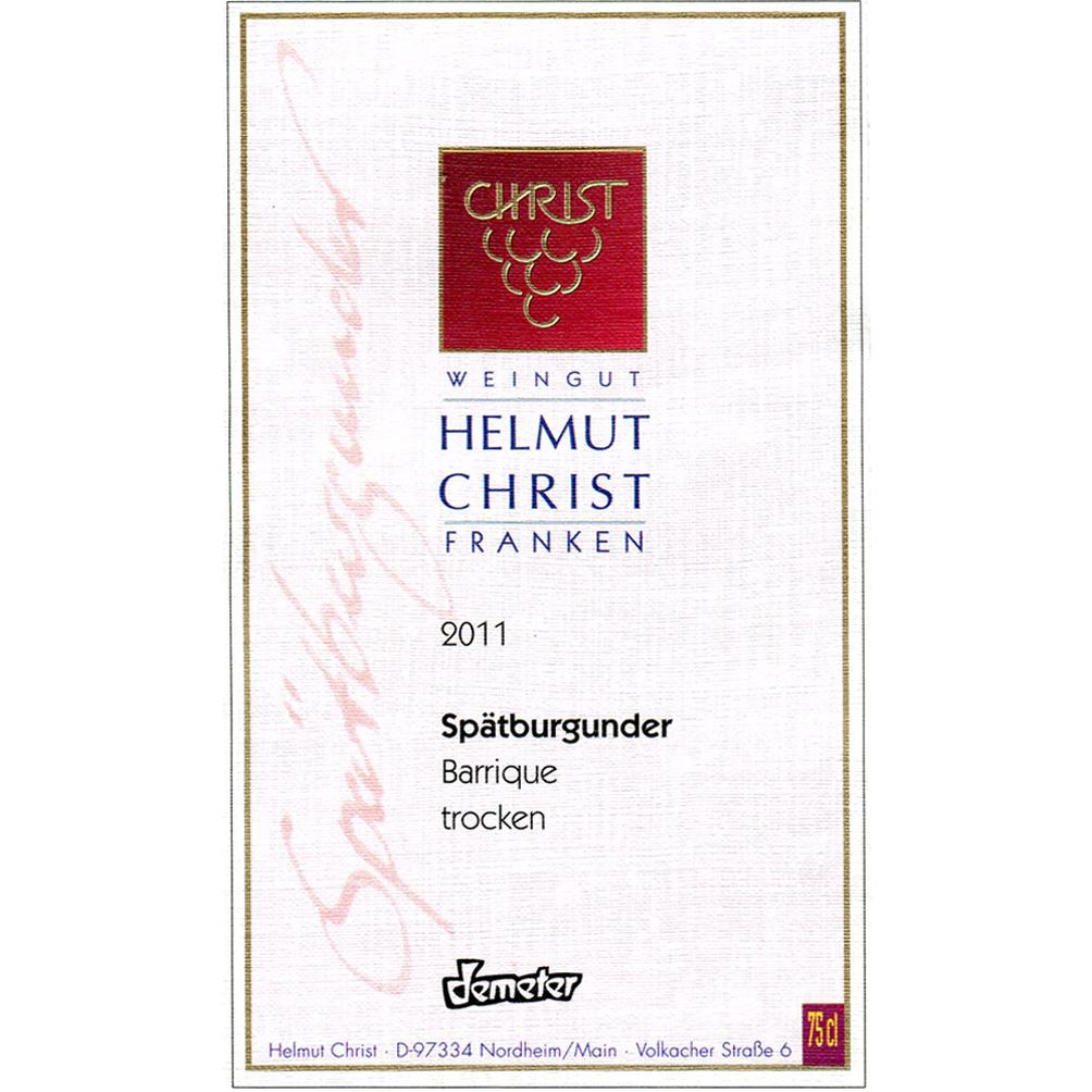 Helmut Christ / 2011 Spätburgunder Barrique QbA trocken-224
