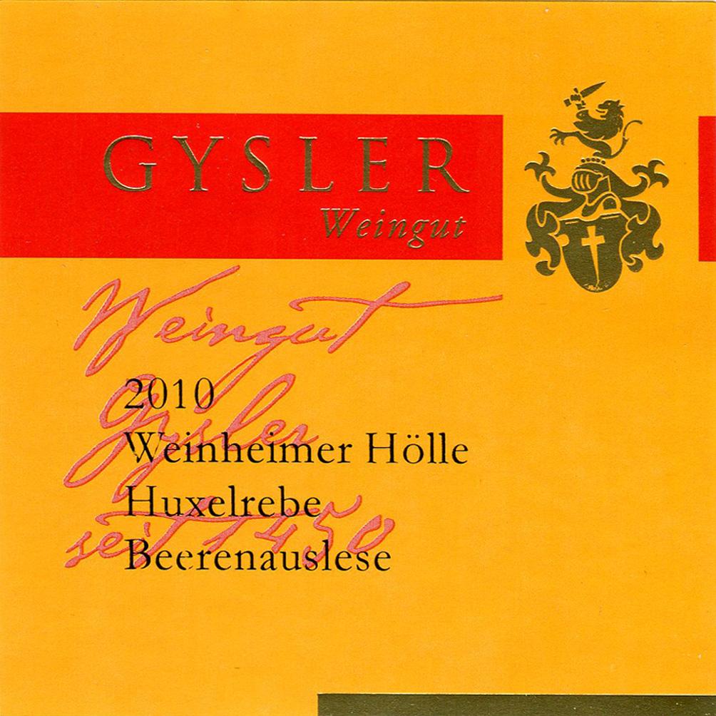Alexander Gysler / 2010 Weinheimer Hölle Huxelrebe Beerenauslese-96