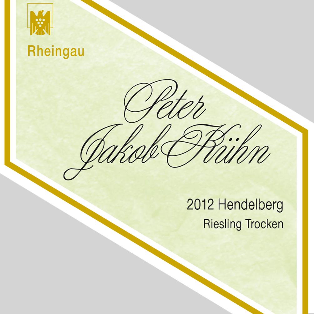 Peter Jakob Kühn / 2014 Hendelberg Riesling Qualitätswein trocken / VDP. Erste Lage-111