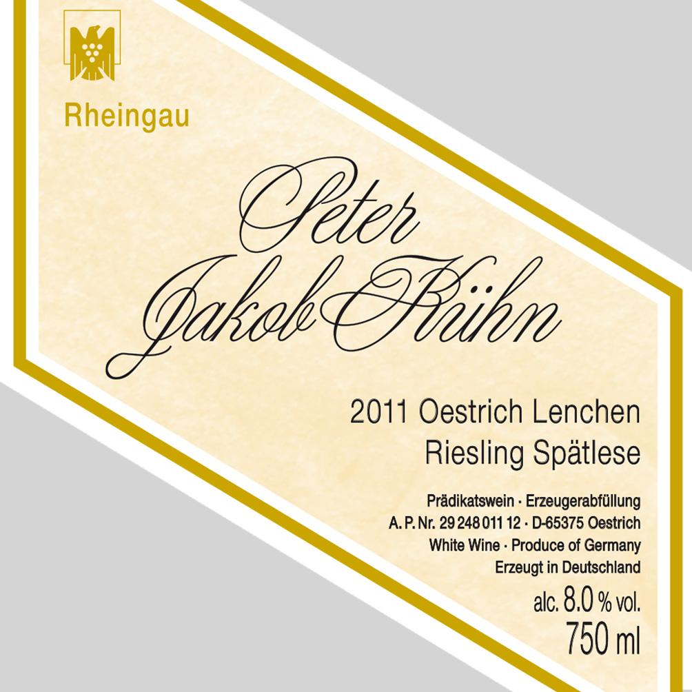 Peter Jakob Kühn / 2011 Lenchen Riesling Spätlese-109